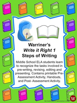 Steps of Writing: Warriner's Write it Right 1