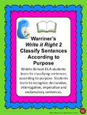 Sentences--Classify According to Purpose: Warriner's Write