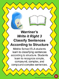 Sentences--Classify According to Structure: Warriner's Wri