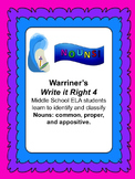 Nouns--Common, Proper, Appositive: Warriner's Write it Right 4