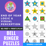 Brain Breaks Printable Cards - Brain Teasers and Logic Puzzles - Shapes Edition