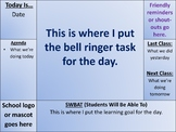 Bell Ringer Daily Agenda Slide Template - Editable