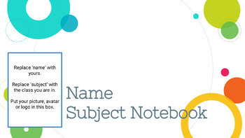 Bell Ringer Digital Interactive Notebook for ANY subject - FYNN THEME
