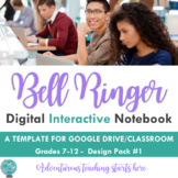 Bell Ringer Digital Interactive Notebook: Using Google Classroom {Design Pack 1}