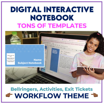 Bell Ringer Digital Interactive Notebook for ANY subject - WORKFLOW THEME