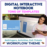 Bell Ringer Digital Interactive Notebook for ANY subject -