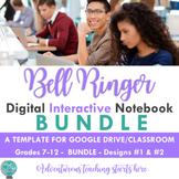 Bell Ringer Digital Interactive Notebook: Using Google Classroom (MEGA BUNDLE)