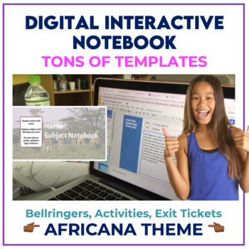 Bell Ringer Digital Interactive Notebook for ANY subject - AFRICANA THEME