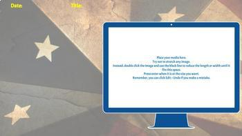 Bell Ringer Digital Interactive Notebook for ANY subject - AMERICANA THEME