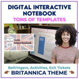 Bell Ringer Digital Interactive Notebook for ANY subject - BRITANNICA THEME