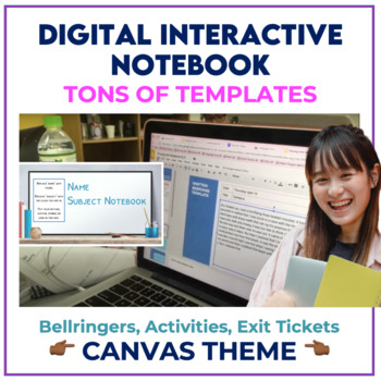 Bell Ringer Digital Interactive Notebook for ANY subject - CANVAS THEME