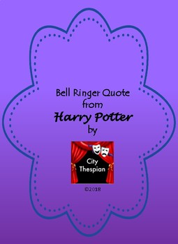 Bell Ringer For Harry Potter Reading Quote