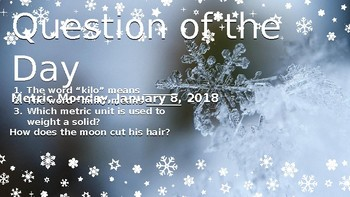 Bell Ringer January Week Question of the Day