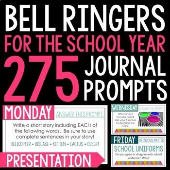 Bell Ringer Journal BUNDLE Grades 3-5: Journal, Digital, & Presentation