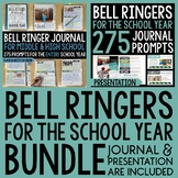 Bell Ringer Journal & Presentation for the Entire School Year BUNDLE