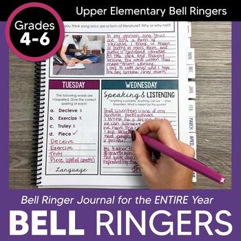 Bell Ringer Journal for Entire School Year: Upper Elementary Grades 4-6 EDITABLE
