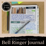 Bell Ringer Journal for the Entire School Year: 275 Journal Prompts EDITABLE