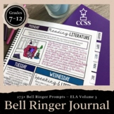 Bell Ringer Journal for the Entire School Year: 275 Prompts (VOLUME 3) EDITABLE