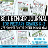 Writing Journal for Morning Work & Writing Warm-Up Grade 1-2 Bell Ringer Journal