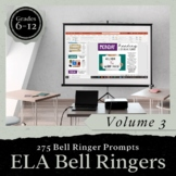 Bell Ringer Journal for the Entire School Year: Volume 3 P