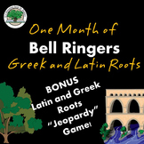 Bell Ringers One Month of Lessons Greek and Latin Roots Secondary