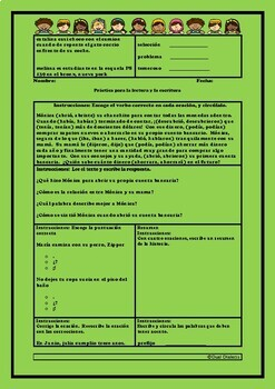 Packet!!! Spanish Warm up for Reading and Grammar