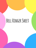 Bell Ringer Page for Interactive Notebooks