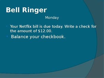 Bell Ringer Project for Personal Finance