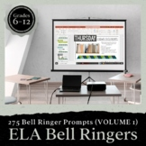 Bell Ringer Prompts for the Entire School Year: 275 Journa