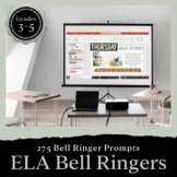 Bell Ringer Prompts for the Entire School Year: Grades 3-5 PRESENTATION