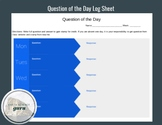 Bell Ringer: Question of the Day Log Sheet