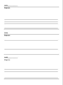 FREE Bell Ringer Response Sheet