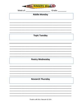 Bell Ringer Sheet