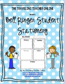 Bell Ringer Student Stationery