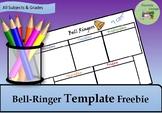 Bell Ringer Template Freebie
