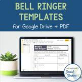 Bell Ringer Templates for Google Drive + PDF
