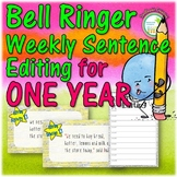 Sentence Editing Activity 1 Year Pack