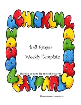 Bell Ringer Weekly Template