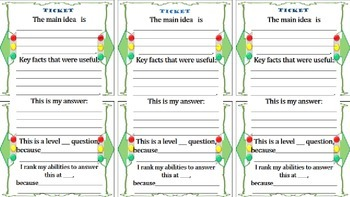 Bell-Ringer and Exit Ticket Slips