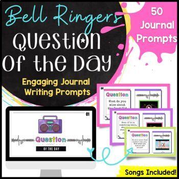 Bell Ringer for Middle School ELA Classroom Journal Prompts *9 Week Bundle!*