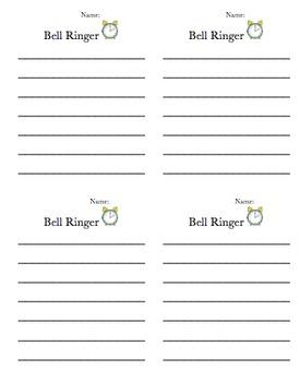 Bell Ringer template