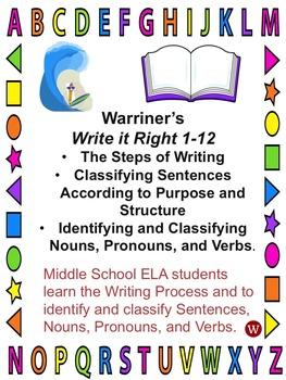 Grammar Bundle: Warriner's Write it Right 1-12