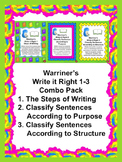 Steps of Writing and Classify Sentences: Warriner's Write