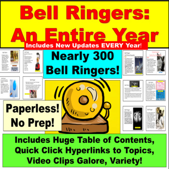 Bell Ringers, Full Year, Videos Links, Table of Contents Links, MORE!