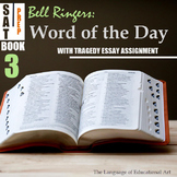 Bell Ringers: SAT Word of the Day (Book 3: w/ Tragedy Narrative Assignment)