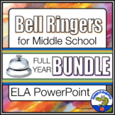 Bell Ringers for Middle School ELA Bundle - Full Year - Distance Learning