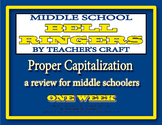 Middle School ELA Bell Ringers - Capitalization