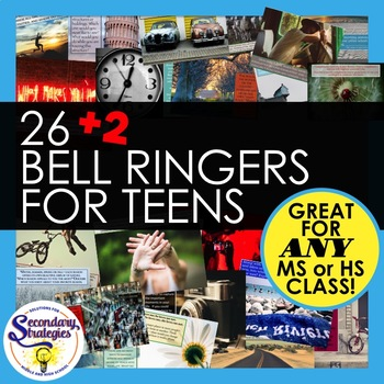Bell Ringers Writing Prompts For Any Middle or High School Classroom