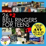 Bell Ringers Writing Prompts For Any HS Class | Digital Distance Learning