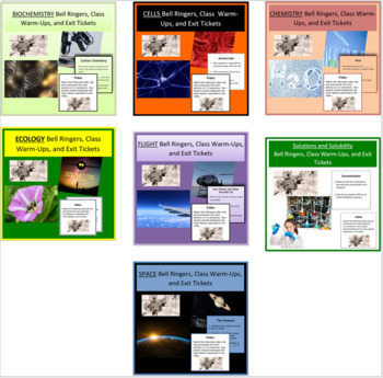 Bell Ringers, Class Warm-Ups, and Exit Tickets - Mega Bundle